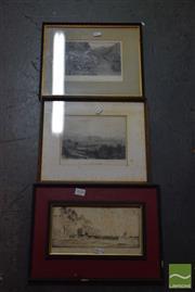 Sale 8506 - Lot 2058 - George Malern Etching & Two Australian Themed Landscape Engravings (3)