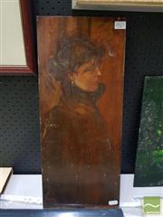 Sale 8544 - Lot 2027 - Artist Unknown - Standing Figure 51 x 21cm