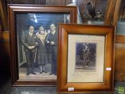 Sale 8557 - Lot 2086 - 2 Prints: Nellie Melba & Efram Zimbalist with Another