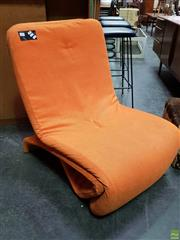 Sale 8585 - Lot 1008 - Vintage Upholstered Click-Clack Lounge Chair