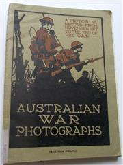 Sale 8639 - Lot 84 - Australian War Photographs, a Pictorial record from November 1917 to the End of the War, edited by Captain Geo H Watkins, published ...