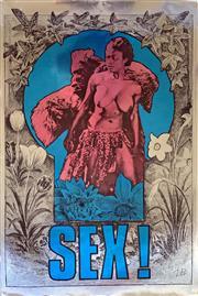 Sale 8643A - Lot 5006 - Martin Sharp (1942 - 2013) - Sex! 1967 76 x 51cm