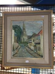 Sale 8752 - Lot 2083 - June Smithers - Old Balmain, oil on board, SLR