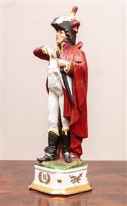 Sale 8804A - Lot 24 - A porcelain figure of one of Napoleons Generals signed Di Pietro, 31cm