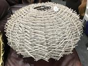 Sale 8809 - Lot 1071 - A contemporary art-form white cane ceiling light shade