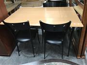Sale 8822 - Lot 1234 - Modern 4 Piece Dining Suite incl. Table and 3 Chairs
