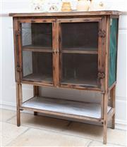 Sale 8866H - Lot 39 - A vintage meat safe with zinc top and shelf below, Height 90cm, Width 76cm, Depth 30cm