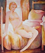 Sale 8976A - Lot 5016 - Bill Coleman (1922 - 1993) - Nude by the Window 60 x 49 cm (frame: 80 x 69 x 4 cm)