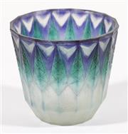 Sale 9010 - Lot 100 - An Art Deco Gabrielle Argy-Rousseau Signed Art Glass Bowl In The Geometric Design, Pate De Verre (Dia11cm H10cm)