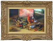 Sale 8411A - Lot 5057 - William James Webb (1817 - 1904) - Feeding Time 28.5 x 44cm