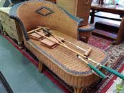 Sale 8469 - Lot 1052 - Wicker Chaise