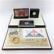 Sale 8618 - Lot 61 - US Proof Coin Set with related American coin displays