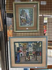 Sale 8752 - Lot 2084 - 2 Works: Artist Unknown - Du Cadet de Gascogne, oil on board, SLL & Artist Unknown - Occasions, acrylic on board, SLR