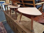 Sale 8863 - Lot 1051 - Set of Three Tri-Leg Retro Side Tables