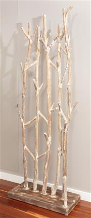 Sale 8904H - Lot 6 - A free standing driftwood coat stand. Height 198cm on a 75cm x 35cm base