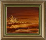 Sale 8914 - Lot 2047 - Helen Goldsmith (1937 - ) Sunset on Sandy Creek acrylic on board, 34.5x41cm, signed -