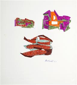 Sale 8991A - Lot 5092 - Lyndon Dadswell (1908-1986) (2 works) - Studies for Sculpture no. 329 & no.330, 1977 27 x 24.5 cm, each