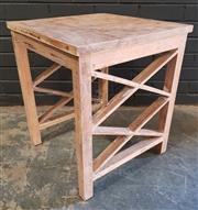 Sale 8979 - Lot 1061 - Shabby Chic Side Table (H:59 W:50 D:50cm)