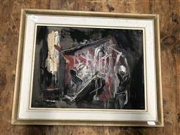 Sale 9152 - Lot 2061 - Ann Shimmins The Pit, #3, coalvface oil on board frame: 40 x 50 cm, signed lower left -