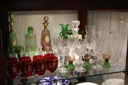 Sale 8351 - Lot 91 - Italian Glass Ware with Others incl Etched Glass