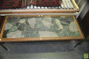 Sale 8383 - Lot 1425 - Marble Top Retro Coffee Table