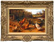 Sale 8411A - Lot 5058 - William James Webb (1817 - 1904) - By the Trough 28.5 x 44cm
