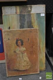 Sale 8495 - Lot 2007 - Group of (3) late C19th and early C20th Artworks by Various Artists, oils on canvas (AF), various sizes.