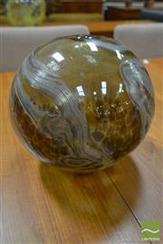 Sale 8511 - Lot 1026 - Sam Herman Round Vase in Gold and Brown, H 23cm
