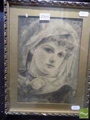 Sale 8513 - Lot 2064 - Artist Unknown Portrait of a Girl