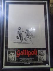 Sale 8557 - Lot 2030 - Movie Poster - Gallipoli, 1981 110 x 76 (frame size)