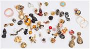 Sale 8640F - Lot 32 - An assortment of clip on earrings to include cabachon styles, floral, hoop examples and others.