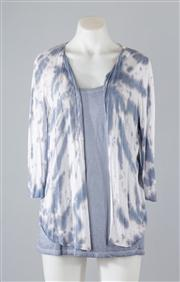 Sale 8685F - Lot 99 - A Monari cotton knit singlet (GB 14) together with a Monari dyed knit cardigan (approx size GB 14)