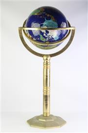 Sale 8810 - Lot 62 - Mineral Insert Globe on Brass Stand (Height 95cm)