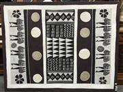 Sale 8822 - Lot 1235 - Mounted Tribal Artwork