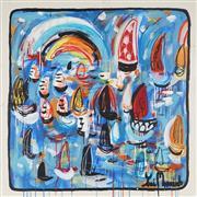 Sale 8880A - Lot 5023 - Yosi Messiah (1964 - ) - Glowing Blue 85 x 85 cm