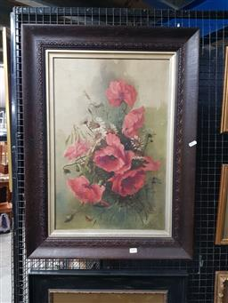 Sale 9127 - Lot 2009 - A Stapleton  Red Poppies 1908 oil on canvas, 60 x 40cm (frame: 79 x 58cm) signed and dated lower right