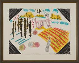 Sale 9161A - Lot 5023 - COLIN LANCELEY (1938 - 2015) - For New England, 1995 56 x 75.5 cm (frame: 76 x 96 x 3 cm)