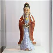 Sale 8292 - Lot 23 - Chien Lung Period Ceramic Guanyin Figure