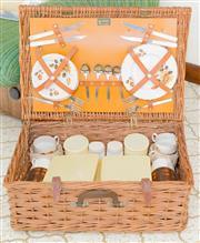 Sale 8346A - Lot 206 - A wicker picnic hamper