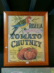 Sale 8582 - Lot 2057 - Chutney Advertisement