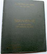 Sale 8639 - Lot 87 - Australia Day 1915 Souvenir in aid of funds for Wounded Soldiers published by the Trustees of the National Art Gallery of NSW, 6 pri...