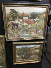 Sale 8702 - Lot 2080 - 2 Works: G Brown - Countryside Scenes, original paintings, various sizes, each signed