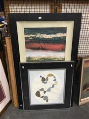 Sale 8711 - Lot 2080 - Set of 6 Framed Decorative Prints, framed various sizes, including Picasso and Leslie Wasserberger