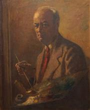 Sale 8755 - Lot 554 - Roland Wakelin (1887 - 1971) - Self-Portrait 60 x 50cm