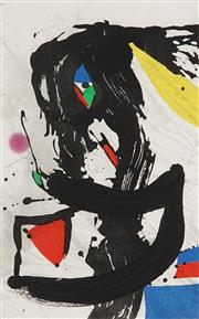 Sale 8821 - Lot 576 - Joan Miro (1893 - 1983) - Le Naufrauge 87 x 64cm