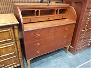 Sale 8822 - Lot 1016 - Gustafsson Roll Top Desk with Three Drawers