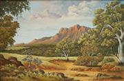 Sale 8901A - Lot 5078 - Gilpin Miniken (1931 - ) - Sunlit Bluffs, Kakadu National Park 29 x 44 cm