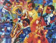 Sale 9004 - Lot 2079 - Artist Unknown Midnight Jazz I, acrylic on canvas, 90 x 120 cm