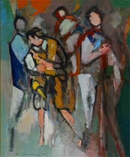 Sale 9137A - Lot 5012 - Ian Armstrong (1923 - 2005) - Figures, 1979 60 x 49 cm (frame: 74 x 64 x 5 cm)