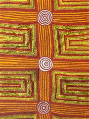 Sale 8413A - Lot 5001 - Eileen Napaltjarri (1956 - ) - Women's Ceremony, 2008 128 x 96cm (stretched & ready to hang)